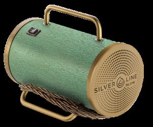 sanificatore portatile Silverline Blow con colorazione in verde e oro