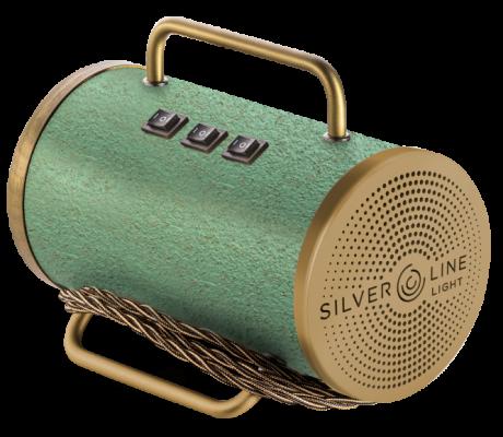 sanificatore portatile Silverline Light con colorazione verde e oro